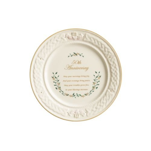 (Belleek 50th Anniversary Plate )