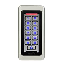 TIVDIO Door Keypad Door Lock KeypadAccess Control Access Keypad System RFID 125KHz Proximity Card Standalone Access Control with 2000 Users for Outdoor and Indoor (Silver)