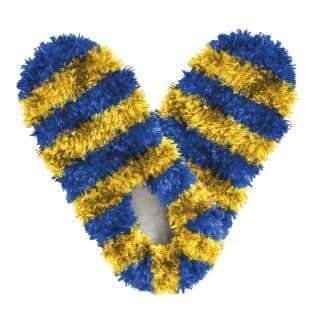 Amazon Com Fuzzy Footies Fanwear Slippers Blue Amp Gold