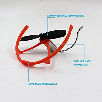 BTG Propellers Props for DIY Micro Indoor FPV RC Racing Quadcopter Racer Drone Miniquad Frame Support 8520 Motor Like Tiny QX90 QX95 LT105 JJPRO T1 T2 Kingkong Q100