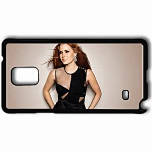 Personalized Samsung Note 4 Cell phone Case/Cover Skin Amy Adams Earrings Hair Black
