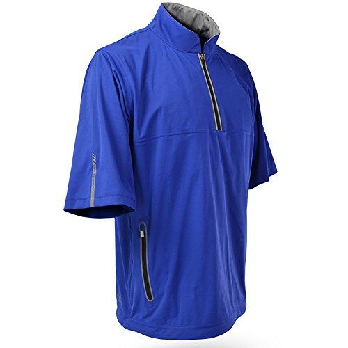 Sun Mountain Mens Rainflex Short Sleeve Rain Pullover Royal M ()