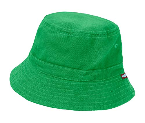 City Threads Unisex Baby Solid Wharf Hat Bucket Hat for Sun Protection SPF Beach Summer - Elf - M(6-18M) -