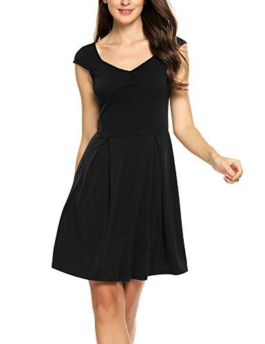 Kleid a linie kurz schwarz