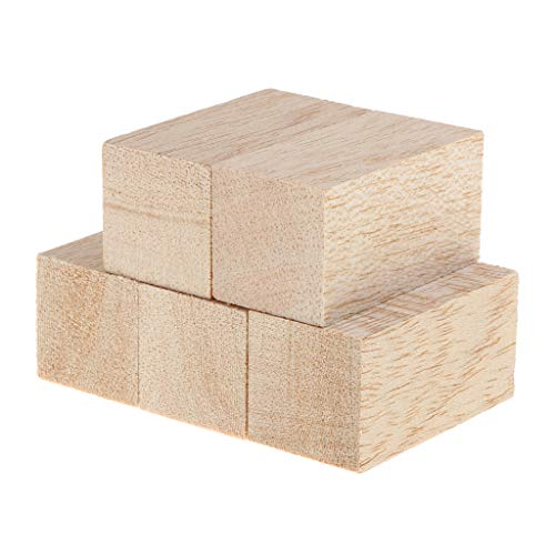 Block Balsa (Prettyia 5 Pieces 80/60mm Balsa Wood Stick Unfinished Woodcraft Rectangle Wooden Stick Dowel Blocks 30x30mm - 30x30x60mm)