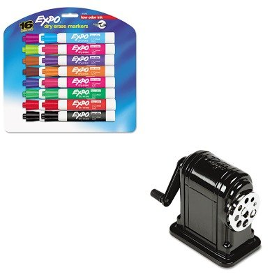 KITEPI1001SAN81045 - Value Kit - X-acto Table-Mount/Wall-Mount Manual Pencil Sharpener (EPI1001) and Expo Low Odor Dry Erase Markers (SAN81045) (Whiteboard Wall Mount Kit)