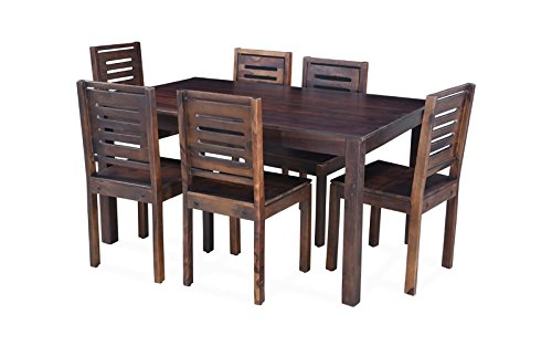 Royaloak Alonzo 4 Seater Dining Table Set (Brown)