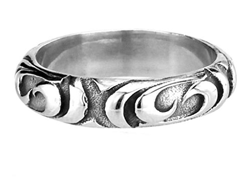 [Aooaz 316L Stainless Steel Mens Ring Bands Round Silver Size 11 Punk Gothic Vintage Novelty Ring] (Tarnished Costume Jewelry Cleaner)