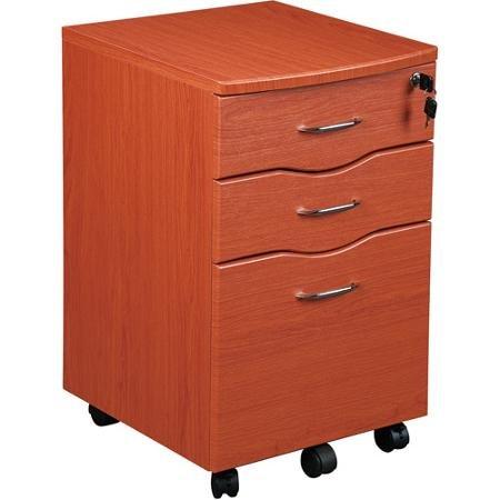 (Generic Tribeka Rolling File Cabinet 5 Double Wheel Casters, Dark Honey)
