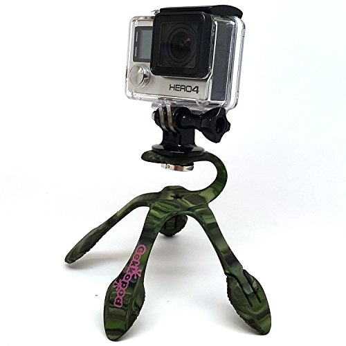 Gekkopod GoPro & Smartphone Mount - Portable and Extremely Flexible Mount that can be Set, Wrapped, Hung, Clung and Submerged Practically Anywhere - 2 adapters, one for GoPro and one for Smartphones