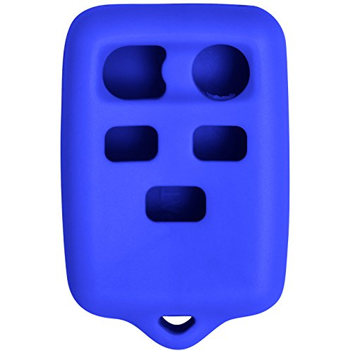 Keyless2Go New Silicone Cover Protective Case for 5 Button Remote Key Fob with FCC CWTWB1U511 - Blue