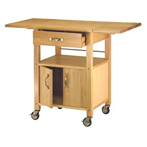 Winsome Wood Drop-Leaf Kitchen Cart