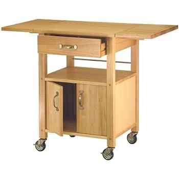 Large Kitchen Island Cart Wheels Rolling Roller Workstation Butcher Block Basic