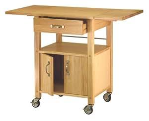 Amazon Com Winsome Wood Drop Leaf Kitchen Cart Bar