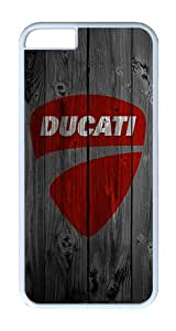 iPhone 6 Case, iPhone 6 Cover - Dark Wood Ducati Scratch Protection Snap-on White Plastic Back Cover Case for iPhone 6 4.7 inch
