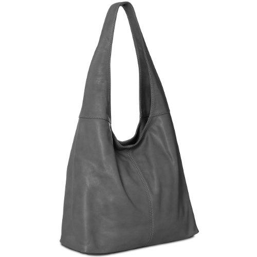 CASPAR Fashion - Bolso al hombro para mujer gris oscuro