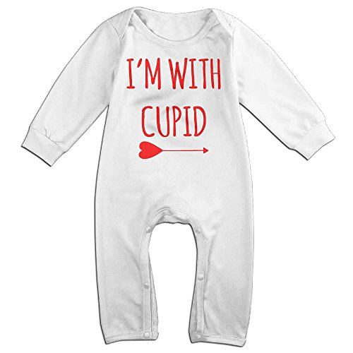 Cupid Dance Costume (Cupid Boy & Girl Long Sleeve Climbing Clothes Triangle Bodysuit Size 12 Months White Customize)