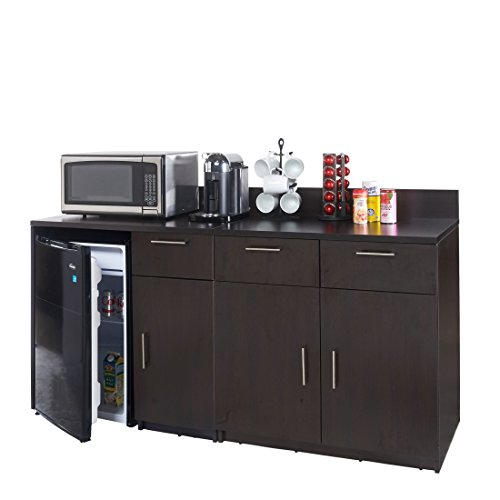 Breaktime 2 Piece 3271 Coffee Kitchen Lunch Break Room Furniture Cabinets Fully Assembled Ready to Use, Instantly Create your New Break Room, Espresso by Breaktime
