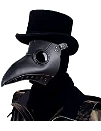 plague doctor Bird Mask Long Nose Beak Cosplay Steampunk Halloween Costume Props (black)