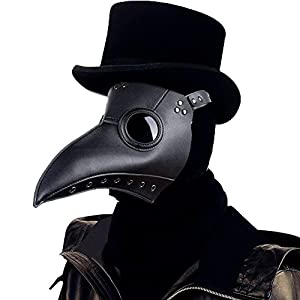 Raxwalker Plague Doctor Bird Mask Long Nose Beak Cosplay Steampunk Halloween Costume Props