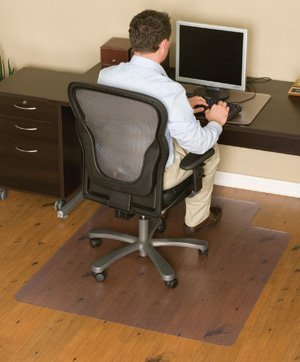 Chair Mats 60'' x 96'' without Lip for Hard Floor Surfaces by American Floor Mats - Chair Mats