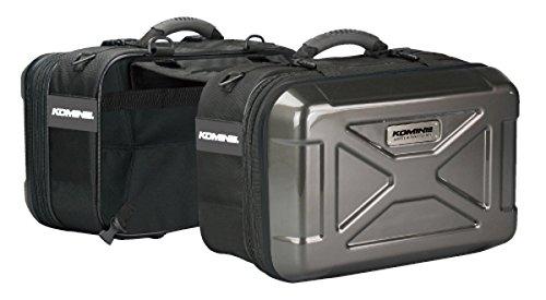 WILDKEN Motorcycle Tool Bag PU Sport Touring Saddle Bag Leather Storage Pannier Tool Pouch Roll Barrel Bag for Harley Davidson