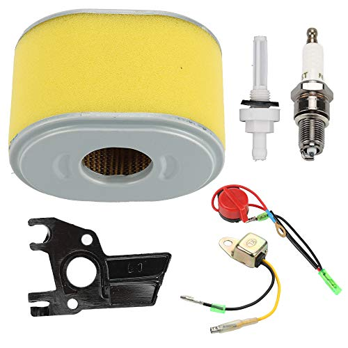 Trustsheer 17210-ZE1-822 Air Filter fit Honda GX140 GX160 GX200 5HP 5.5HP 6.5HP Engine Generator Water Pump with Fuel Gas Tank Joint Filter + On/Off Switch + Low Oil Alert Sensor
