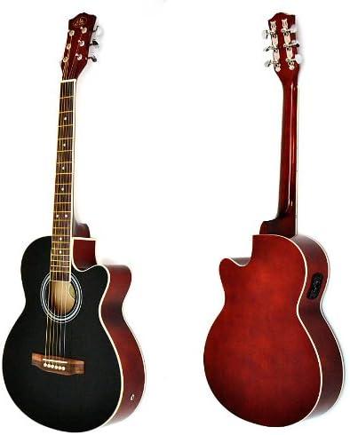 4/4 Guitarra acústica WESTERN Guitarra en negro de color marrón ...