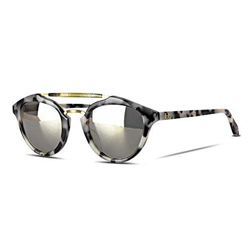 Orange Hudson Sunglasses Classic Crystal Tortoise Acetate Frame and Legs with Silver Mirror Lenses 100% UV Block - Tasmania - Hudson Glasses Bay