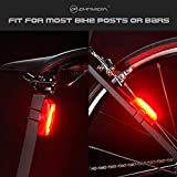 BRIVIGA LED Bike Tail Light USB Rechargeable, Super Bright Bike Helmet Light, Waterproof Bicycle Rear Tail Light, 6 Modes Bike Rear Light Rechargeable, 6 Hour Run Time, Easy to Install for Safety