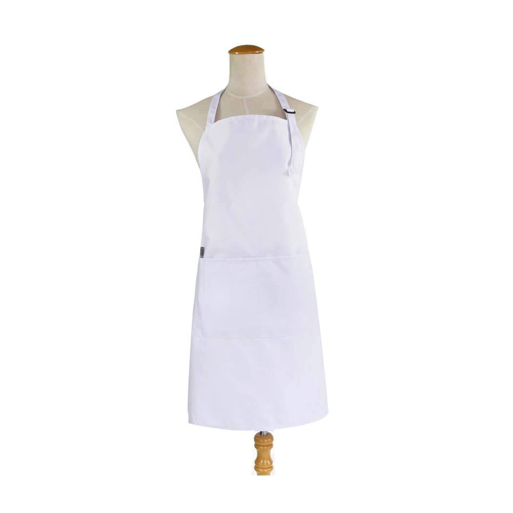 HUIFA Grembiule Moderno Senza Maniche in Cotone Poliestere Anti-fouling con Maniche Corte E Maniche Lunghe Regolabile (colore   bianca B, Dimensioni   78  68cm)