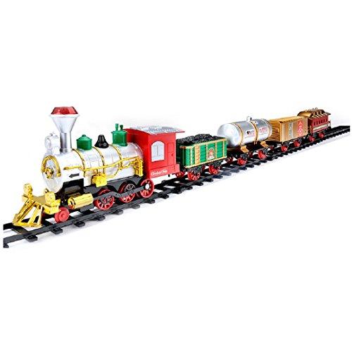 Nicky Bigs Novelties The Jumbo Classic Christmas Tree Train Set Kids Toy Smoke Lights Sound Battery Operated -