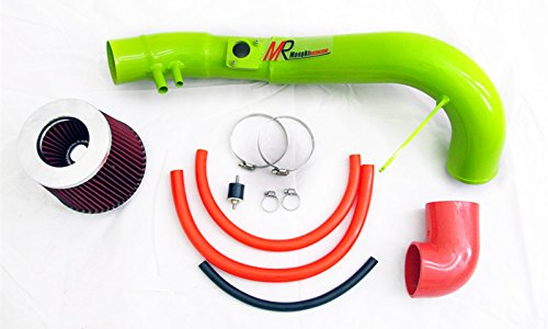 06 07 08 09 10 11 Civic Si 2.0L L4 GREEN Piping Cold Air Intake System Kit with Red Filter