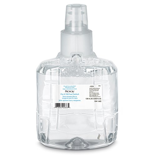 PROVON LTX-12 Clear and Mild Foam Handwash, EcoLogo Certified, 1200 mL Foam Soap Refill for LTX-12 Touch-Free Dispenser (Pack of 2) - 1941-02