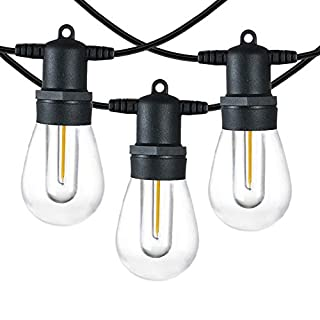 SUNTHIN 96FT LED Outdoor String Light with Shatterproof LED Filament Bulb for Patio Lights, Backyard Lights, Porch Lights, Party Lights and Commercial Lighting