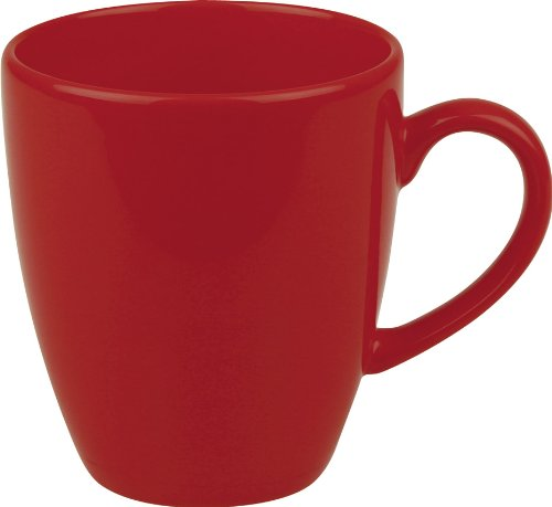 Waechtersbach Fun Factory II Red Jumbo Cafelatte Mugs, Set of 4