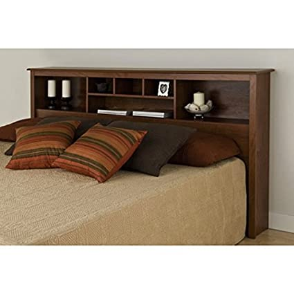 Bedroom Custom Country Rustic Wood Bookcase Headboard With Storage