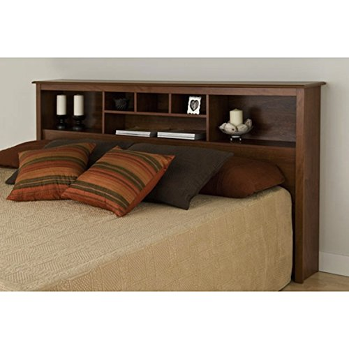 Cheap Bedroom Custom Country Rustic Wood Bookcase Headboard With Storage