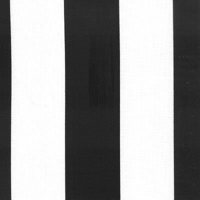 54'' Deck Stripe Black/White Indoor Outdoor Fabric By The Yard