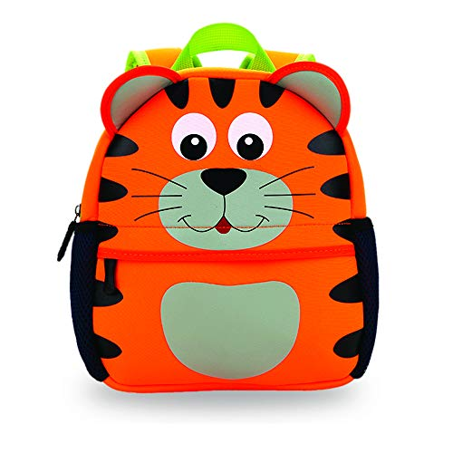 ABkids Toddler Backpack. Supercute Kids Backpack for Boys and Girls - Orange Tiger ()