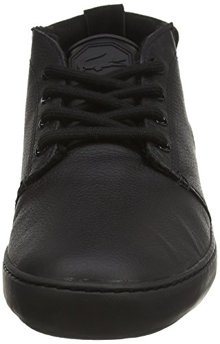 Lacoste AMPTHILL TERRA PUT - zapatillas deportivas altas de cuero hombre negro - negro (BLK/BLK 02H)
