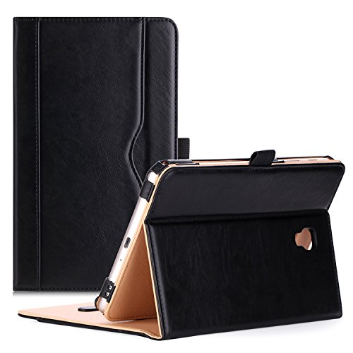 8.0 Case 2017 Model T380 T385 - Stand Folio Case Cover for 8.0 inch Samsung Galaxy Tab A Tablet 2017 T380 T385 -Black ()