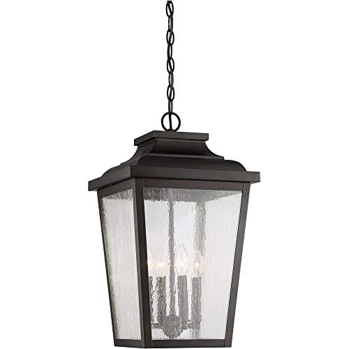 Medium Outdoor Lighting Pendant (Minka Lavery Outdoor Pendant Lighting 72175-189 Irvington Manor, 4-Light 240 Watts, Chelesa Bronze)