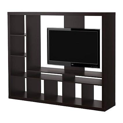 Amazoncom Ikea Lappland Tv Storage Unit Black Brown 72x57 78