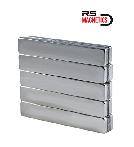 RS Magnetics   Strong Neodymium Bar Magnets   Powerful & Thin Rare Earth N52 Magnet   Small 60mm x 10mm x 3mm Magnets   10 Pack by RS Magnetics (Image #7)