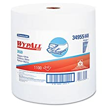 KIMBERLY-CLARK PROFESSIONAL* WYPALL X60 Wipers, Jumbo Roll, 12 1/2 x 13 2/5, 1100/Roll, 1/Carton