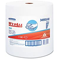 Kimberly-Clark 34955 White WYPALL X60 Wipers, 1100 Sheets, 12.5 x 13.4 Roll