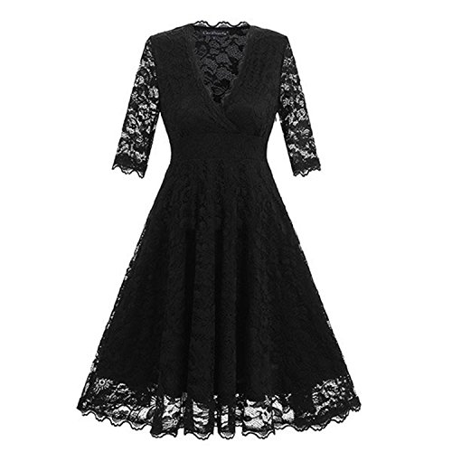 nboba in Stock Full Lace Cocktail Dresses Elegant Short Dress Half Sleeve Formal Dress Little Black Dress Short Prom Gown (Gown Formal Dressesprom)