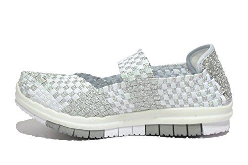 Melluso Slip on sneakers zeppa bianco scarpe donna Walk 05920