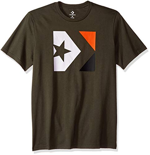 Converse Men's Distressed Star Chevron Short Sleeve T-Shirt, Utility Green, XL
